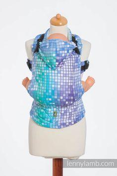 Ergonomic Carrier, Baby Size, jacquard weave 100% cotton - wrap conversion from MOSAIC - AURORA - Second Generation #babywearing