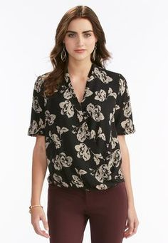 Cato Fashions Floral Twist Front Top #CatoFashions