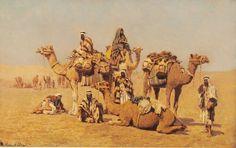 Carovana in sosta nel deserto 1886 di Roberto Guastalla
