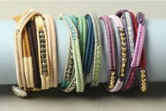 These wrap bracelets inspired by Chan Luu are easy to make if you follow the free instructions on beadshop.com