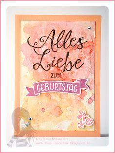Stampin' Up! rosa Mädchen: Geburtstagskarte für Gutscheinkarte in Aquarelloptik mit Grüße rund ums Jahr