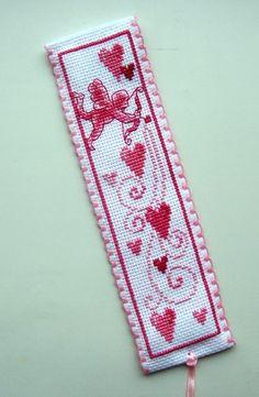 Vervaco Cupid & Hearts bookmark.