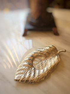 Silver Leaf Nature Metal Candle Holder