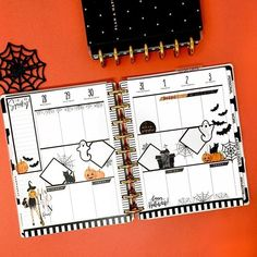 Planner Layout, Goals Planner, Planner Pages, Planner Ideas, Weekly Planner Template, Monthly Planner, Halloween Week, Day Planners, Personal Planners