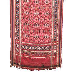 Sari, double ikat patola, silk, Gujarat, India, 19th century