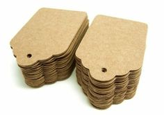 (Pack of 100) DIY 350g craft Scallop Cardstock price Tag, Gift tag, Retro Gift greeting tag, Place Card: Amazon.co.uk: Kitchen & Home
