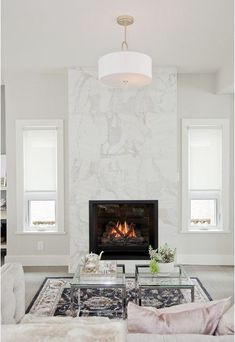 7 Simple and Crazy Ideas Can Change Your Life: Fireplace With Tv Above Hidden slate fireplace corner.Slate Fireplace Corner fireplace and mantels moldings.Black Fireplace Home Interiors. Home, Living Room With Fireplace, Marble Fireplaces, Contemporary Fireplace, Fireplace Design, Transitional Living Room Design, Farmhouse Fireplace, Fireplace Mantels, Modern Fireplace