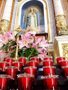Burn candles in Finestrat church