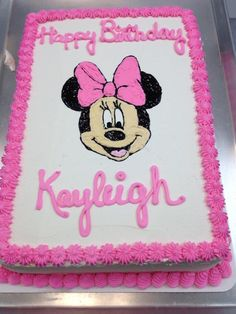 minnie mouse sheet cake - Google Search