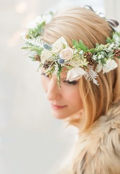 How to Create the Perfect Flower Crown for Winter Brides | Brides.com