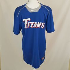 Nike Mens Titans 12 Jersey Athletic Shirt Size Medium Blue Team Team Jersey 707   Clothing, Shoes & Accessories, Men's Clothing, Athletic Apparel   eBay!