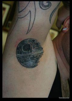 Death Star Heart Tattoo Death-star-star-wars-tattoo-l. Evil Tattoos, Nerdy Tattoos, Star Tattoos, Love Tattoos, Tatoos, Off The Map Tattoo, Tattoo Off, Death Star Tattoo, Star Wars Tattoo