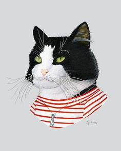 Hey, I found this really awesome Etsy listing at https://www.etsy.com/ru/listing/399219017/tuxedo-cat-art-print-modern-kid-art-pet