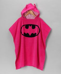 Look at this #zulilyfind! Pink Batgirl Terry Hooded Poncho - Girls by DC Comics #zulilyfinds