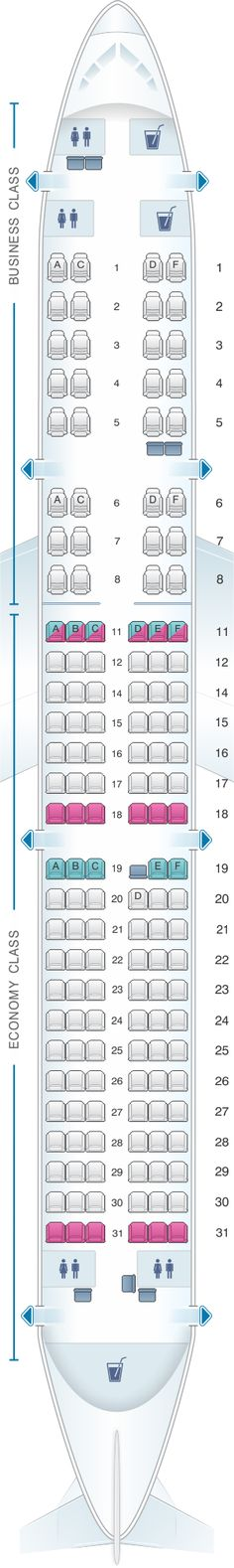 Seat Map Kingfisher Airlines Airbus A321 200 151PAX