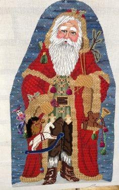 Santa by Liz Stitch Guide by Paula Fehleison