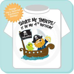 Fourth Birthday Pirate shirt  Pirate 4th by ThingsVerySpecial