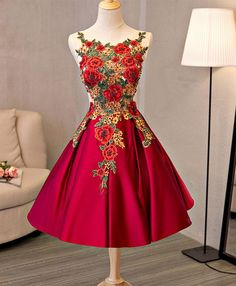 Cute A line lace short prom dress, homecoming dress,party dresses · HotProm · Online Store Powered by Storenvy Dama Dresses, Quinceanera Dresses, Sexy Dresses, Beautiful Dresses, Evening Dresses, Short Dresses, Fashion Dresses, Prom Dresses, Pretty Dresses