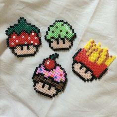 Mushrooms hama perler beads by 8506