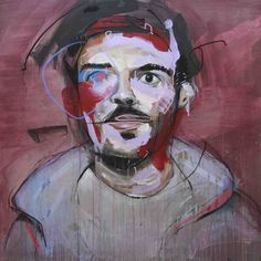 Lou Ros, began painting at the age of He started doing graffiti for fun with friends on the walls of buildings. Figure Painting, Painting & Drawing, Lou Ros, Modern Portraits, Male Portraits, Ecole Art, Abstract Portrait, Arts Ed, Art Lesson Plans
