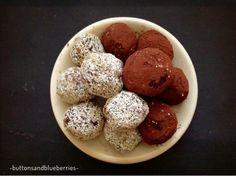 Vegan e DIY - Buttons and Blueberries : Tartufini cocco e ciocclato di fagioli neri - low-fat - vegan