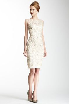 Boatneck Beaded Dress by Sue Wong on @HauteLook