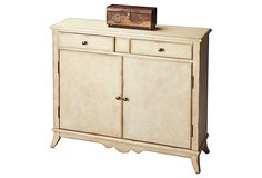 Charlotte Console Cabinet $599 (Perfect for elegantly hiding our DVD collection)