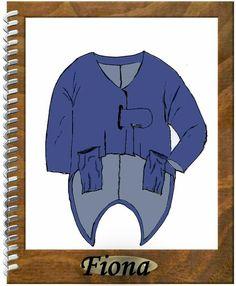 Designer Schnittmuster f. Jacke Fiona Gr. S - RS-Design24