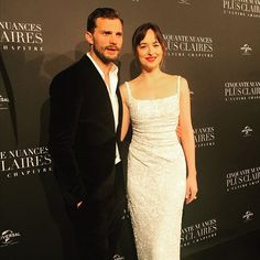 February, Dakota and Jamie at the Paris Premiere. Fifty Shades Movie, Fifty Shades Trilogy, Fifty Shades Of Grey, Jamie Dornan, 50 Shades Freed, Dakota Johnson Style, Grey Pictures, Mr Grey, Christian Grey