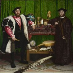 Hans Holbein the Younger (German 1497-1543), The Ambassadors, 1533, oil on oak