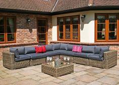 Rattan Modular Sofa Set with
