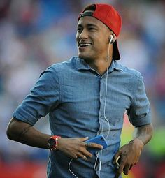 Ney before the match today