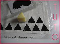 Peinture sur tissu - Pomme de terre - Noir - Des Idées Par Milliers