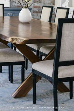 Best Custom Dining Tables Images On Pinterest Barn Boards - Custom kitchen table and chairs