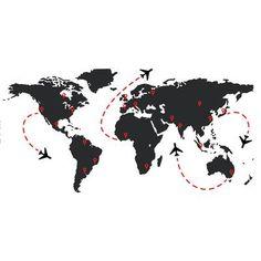 The Decal Guru World Travel Flight Map Wall Decal Size: 35 World Map Travel, Travel Maps, Travel Posters, World Map Wall Decal, Name Wall Decals, World Map Wallpaper, Travel Wallpaper, Wallpaper Quotes, Iphone Wallpaper