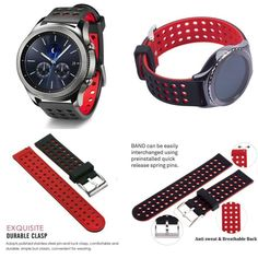 Smartwatch Silicone Bands For Samsung Gear Classic Fitness Smartwatch, Gear S3, Samsung, Fitness, Bands, Watches, Best Deals, Classic, Ebay