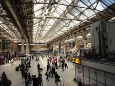 Every day at Victoria Station is busy