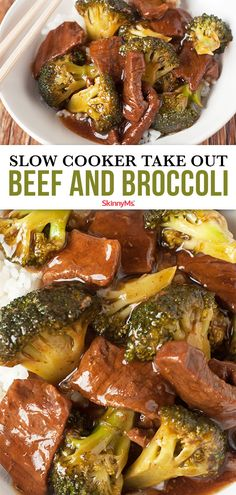 With lean steak and no refined sugar, our Slow Cooker Take Out Beef and Broccoli has all the amazing taste of your usual Chinese food spot without the unhealthy additives. chinese food Slow Cooker Take Out Beef and Broccoli Slow Cooked Meals, Healthy Slow Cooker, Slow Cooker Recipes, Crockpot Recipes, Cooking Recipes, Batch Cooking, Clean Eating Meal Plan, Clean Eating Recipes, Healthy Dinner Recipes