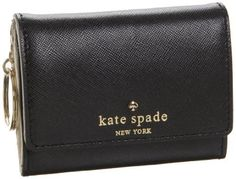 Kate Spade Mikas Pond Darla Wallet,Black,one size Kate Spade New York. $78.00. Embossed saffiano on cowhide. Made in China