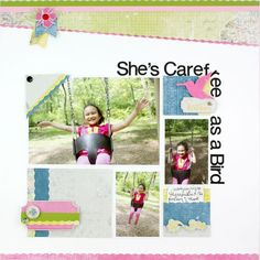 Carefree as a Bird NOD Love Additions #Scrapbooking Layout from Creative Memories    www.creativememor...