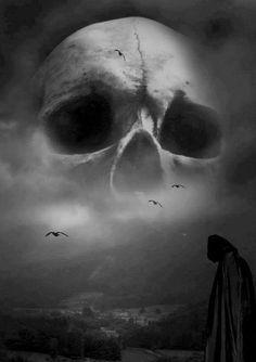 ~Gothic Art Dark Gothic, Gothic Art, Dark Fantasy, Fantasy Art, Photographie Street Art, Totenkopf Tattoos, Darkness Falls, Dark And Twisted, Desenho Tattoo