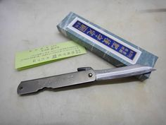 Japanese Titanium case folding pocket knife Higonokami blue st Kanekoma tool L