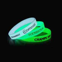 3afea8cd63e9f Custom Printed Glow In The Dark Silicone Wristbands - WBPGLOW12 - IdeaStage  Promotional Products Corporate Gifts