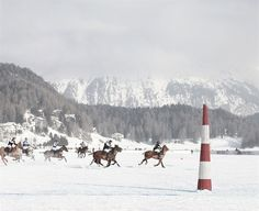 polo on ice in switzerland