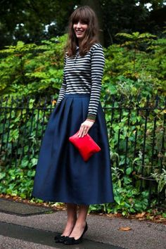 How to wear a midi skirt - lots of gorgeous street inspirations
