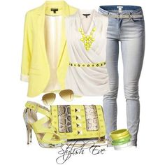 Yellow fashion style describes my mood