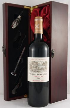 2009 Chateau Saint Pierre  Grand Cru    Full-bodied, with striking intensity and flamboyantly rich, exuberant flavors bursting with extract, the St. Pierre has no hard edges, but rather massive, incredibly well-endowed blockbuster style, which should prove to be monumental.