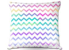 Throw Pillows Indoor Outdoor Decorative Unique Artistic | Organic Saturation's Bubble Ikat Chevron