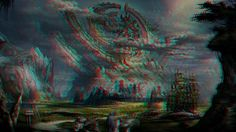 Mage Fantasy Art 3D Anaglyph Red Cyan by Fan2Relief3D on DeviantArt