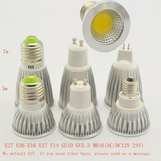 E27 E14 MR16 GU10 Lampada LED Bulb AC85V-265V Bombillas LED Lamp Spotlight COB LED Lampara Spot Light lightting free shipping. Yesterday's price: US $28.00 (24.43 EUR). Today's price: US $2.00 (1.74 EUR). Discount: 60%.